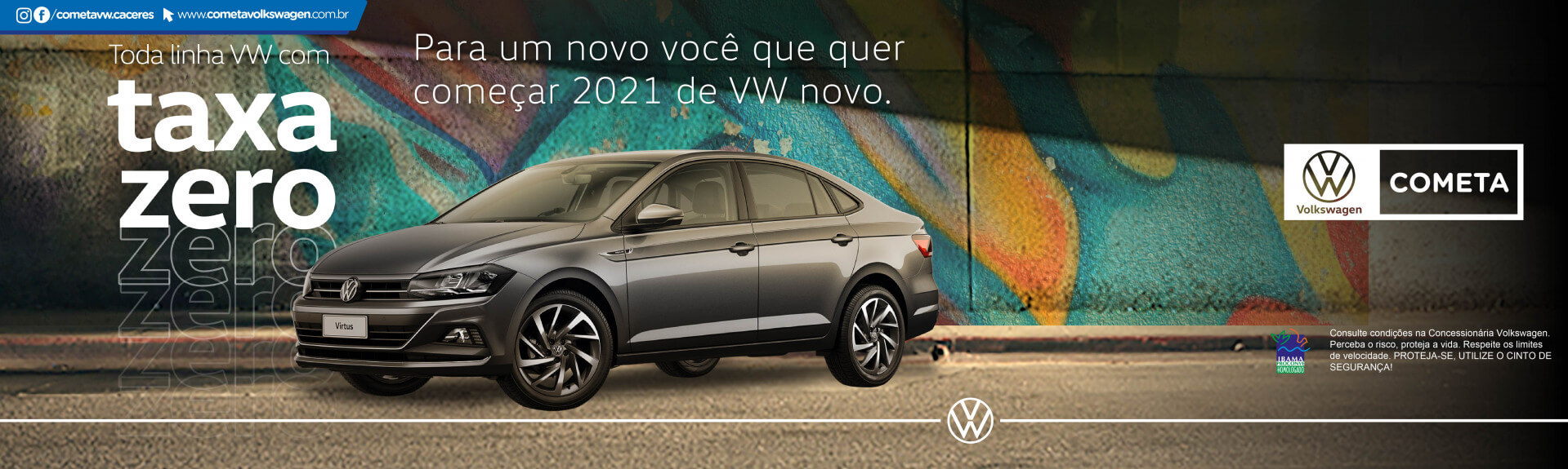 Linha VW taxa zero